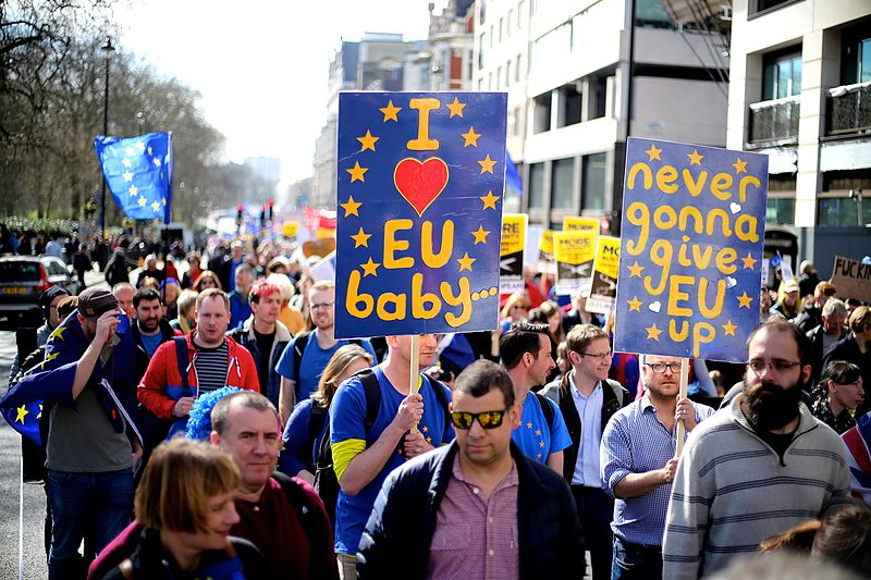 Never give eu up London Brexit pro EU protest March 25 2017 25