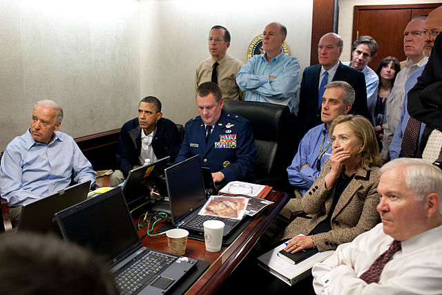 Situation Room Obama and Biden await updates on bin Laden