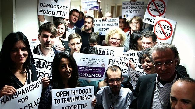 Open the Door to Transparency StopTTIP 15543248792