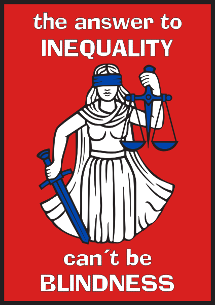 424px Answer to inequality cant be blindness poster vectorsvg