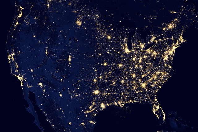 640px City Lights of the United States 2012