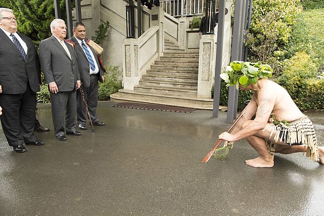 Secretary Tillerson Attends a Powhiri Welcome Ceremony in Wellington 34742408580