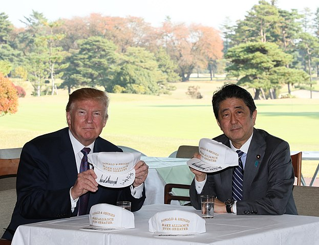 Shinz Abe and Donald Trump in Kawagoe, November 2017. Foto: kantei.go.jp