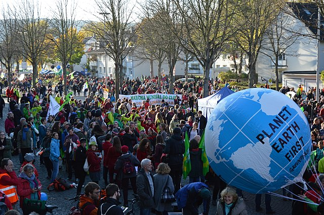 2017 COP 23 demo in Bonn. Spielvogel 5